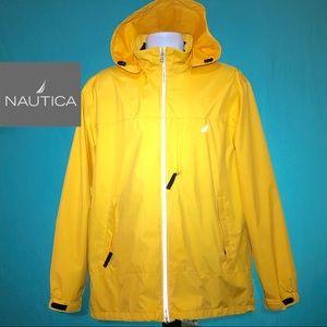 Nautica Windbreaker Water Resistant Yellow XL